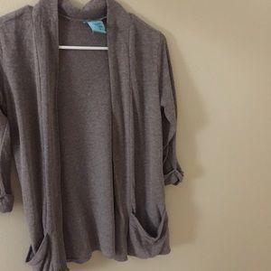 H.I.P. Purple Gray 3/4 Sleeve Cardigan Size M